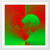 Danish Heart Holidays #61 Art Print