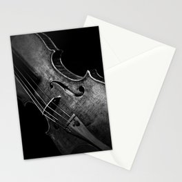 Black and White Violin Stationery Cards