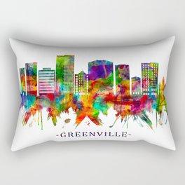 Greenville South Carolina Skyline Rectangular Pillow