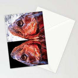 Dead Fish Face Abstract Four Mummy Stationery Cards