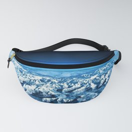 Pyrenees Alps Snow Landscape Aerial View Fanny Pack