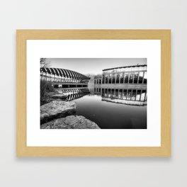 Crystal Bridges Museum - Black and White Edition - Bentonville Arkansas Framed Art Print