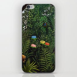 Jungle with Tiger and Hunters by Henri Rousseau iPhone Skin