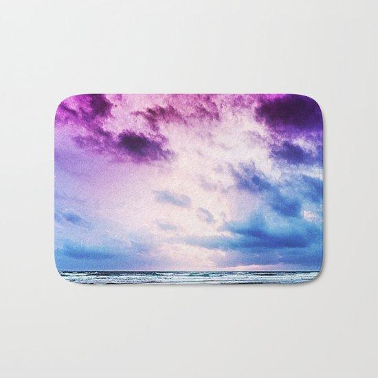 Cloudy shores Bath Mat