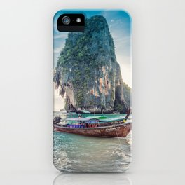 Boat in the sea iPhone Case