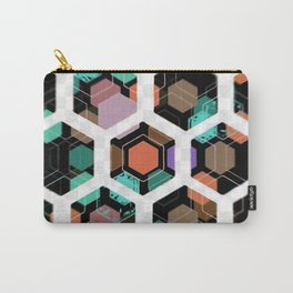 Hex Dive Pattern Carry-All Pouch
