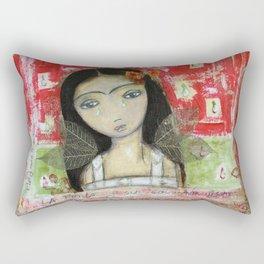 La Frida y su Columna Rota by Flor Larios Rectangular Pillow