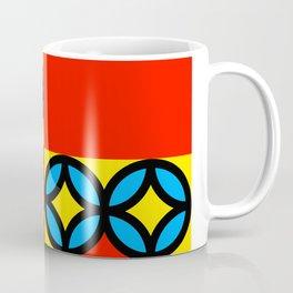 Colored Circles Red Squares Coffee Mug