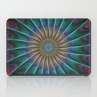 fractal iPad Cases featuring Peacock fractal by David Zydd