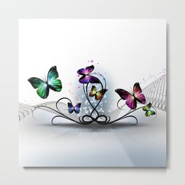 Colorful Butterflies Metal Print