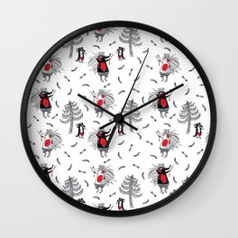 Forest Rovers Hedgehogs and Badgers Wall Clock