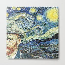 Starry Night Art Van Gogh Metal Print