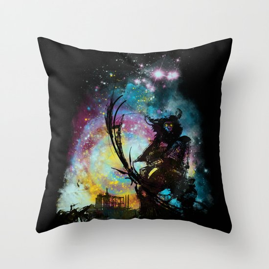 Samourai bot V3 Throw Pillow