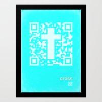 QR Cross Art Print