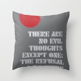 Refusal to Think Throw Pillow