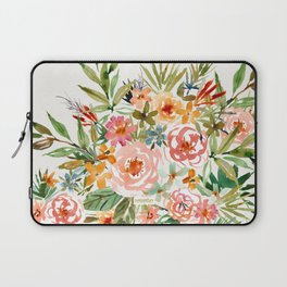 SMELLS LIKE LOVE IN ALL FORMS Floral Laptop Sleeve