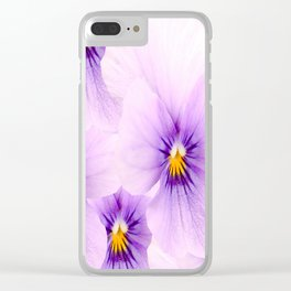 Pansy Flower Bouquet #decor #buyart #society6 Clear iPhone Case