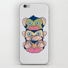 Hear no evil, Speak no evil, See no evil iPhone Skin
