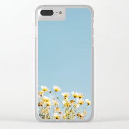 Daisies in the Sky Clear iPhone Case