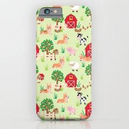 Happy Corgis On The Animals Farm iPhone Case