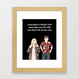 James and Alyssa Valentine Framed Art Print