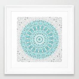A Glittering Mandala Framed Art Print