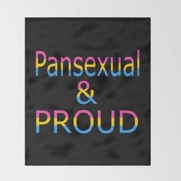 Pansexual and Proud (black bg) Throw Blanket