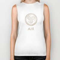 the last airbender Biker Tanks featuring Avatar Last Airbender - Air by bdubzgear