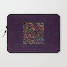 Colorful Sri Yantra  / Sri Chakra Laptop Sleeve