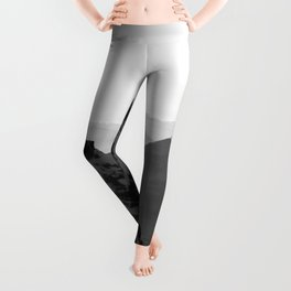 Mountain Side Black and White Photo Europe Nature Leggings