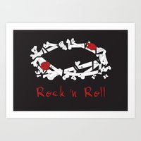 rock n roll Art Prints featuring Rock 'N Roll by Estaschia Cossadianos