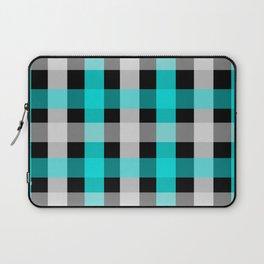 blue black checks Laptop Sleeve