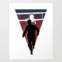 North By Northwest: Alfred Hitchcock + Cary Grant + plane = film classic Art Print