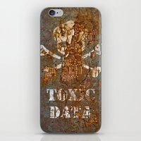 data iPhone & iPod Skins featuring Toxic Data by Hans Duenas