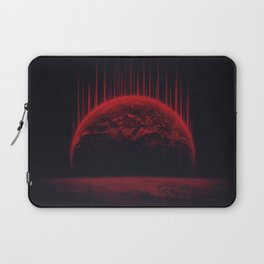 Lost Home! Colosal Future Sci-Fi Deep Space Scene in diabolic Red Laptop Sleeve