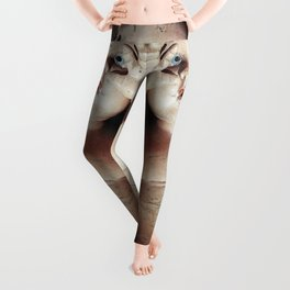 """I see you"" Creepy Scared Doll with Hands Up Leggings"
