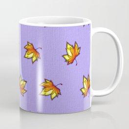 Stylish vintage interior design and textile design botanical pattern on violet Coffee Mug