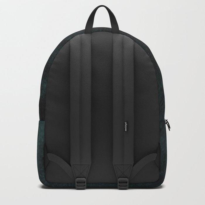 Color Eruption On Distressed Dark Backpack