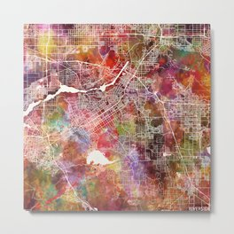 Riverside map Metal Print