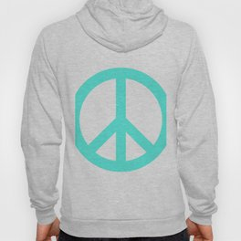Peace (Turquoise & White) Hoody
