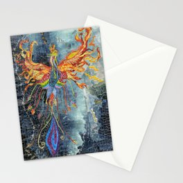 The Phoenix Rising From the Ashes Stationery Cards