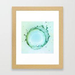 Water Splash Framed Art Print