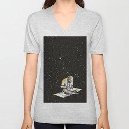 Allen Ginsberg in the sky Unisex V-Neck