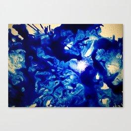Glass Blues Canvas Print