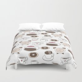 Coffee Time Duvet Cover