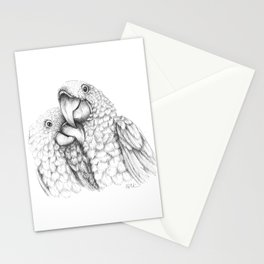 Macaw Pair In Love Stationery Cards