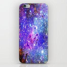 Galaxy Nebula Eagle Nebula Bright & Colorful iPhone Skin