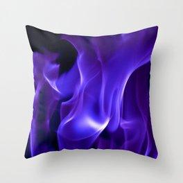 Ultra Violet Flames Throw Pillow