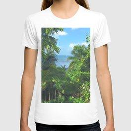 St Lucia View to Sailboat at Sea T-shirt
