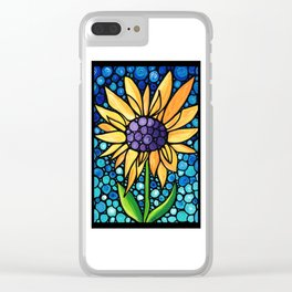 Standing Tall - Sunflower Art By Sharon Cummings Clear iPhone Case